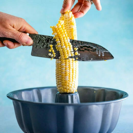 How to cut corn off of cob