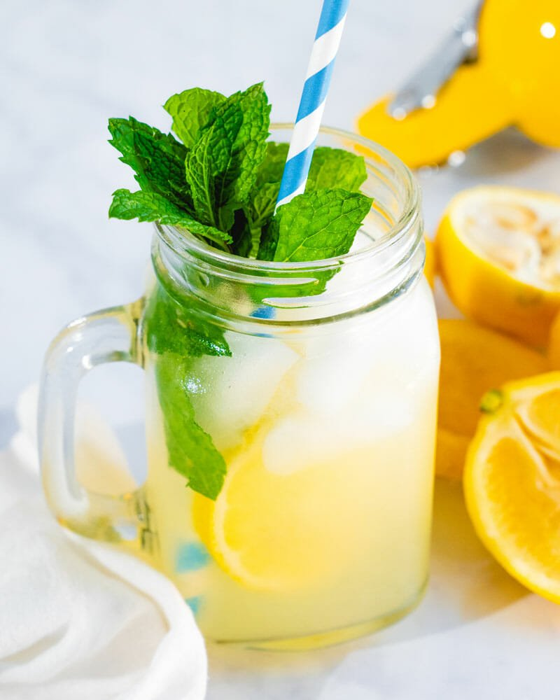 Fresh Lemonade Best Flavor Easy Method A Couple Cooks