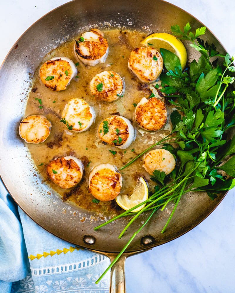 Pan to use for seared scallops