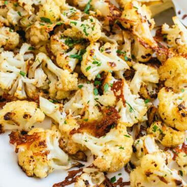 Roasted Cauliflower Parmesan