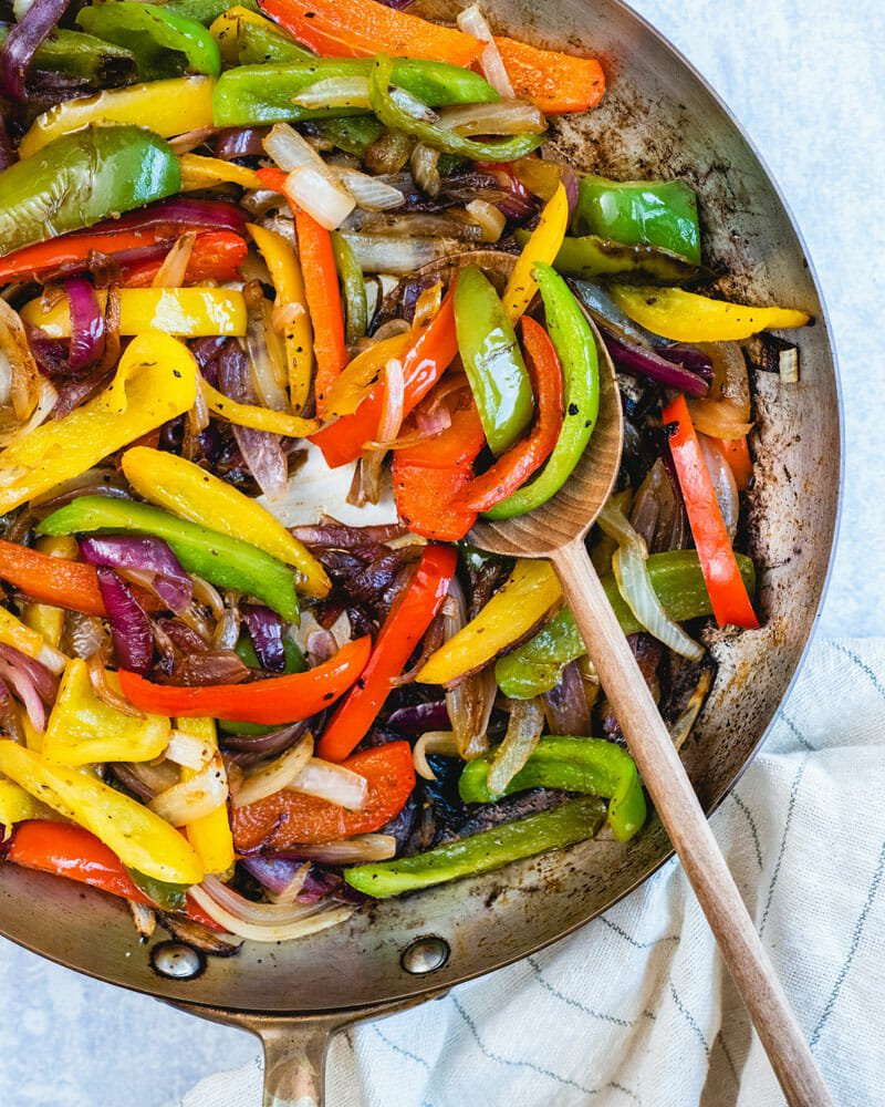 How to saute peppers and onions