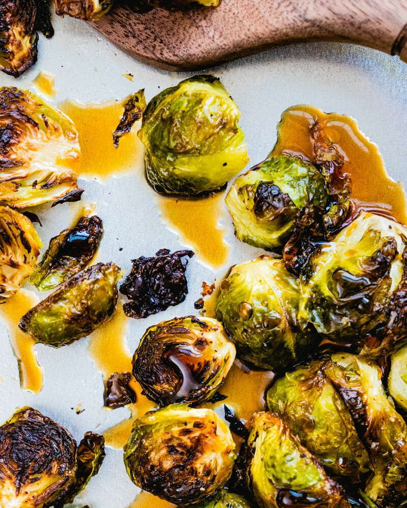 Brussels Sprouts with Maple Glaze