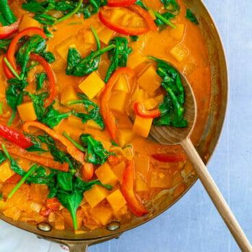 Butternut squash curry