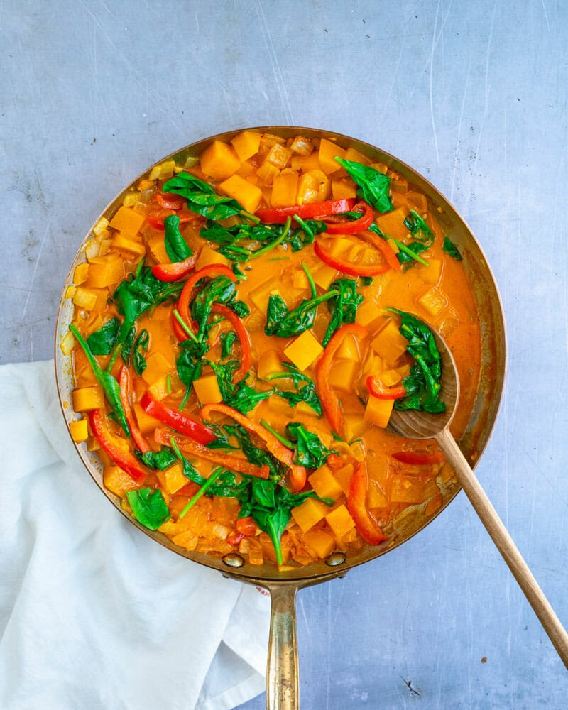 Butternut squashs curry