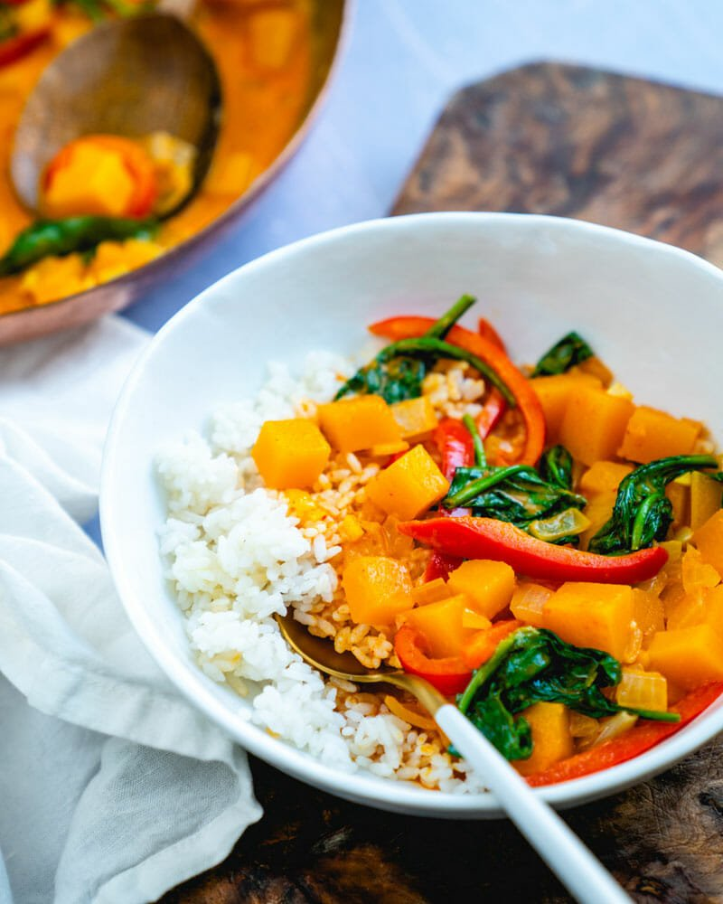 How to make butternut squash curry