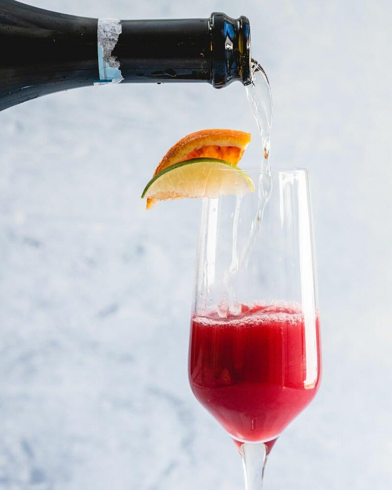 Cranberry mimosa