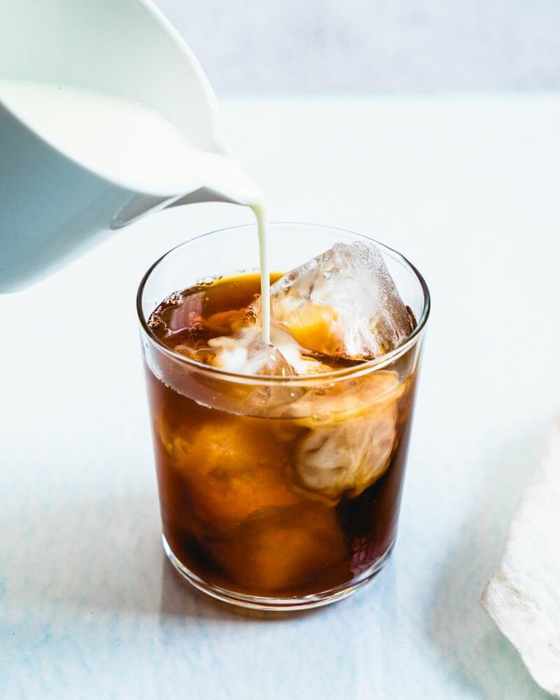 Iced chai latte