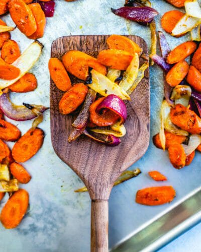 Roasted carrots and onions