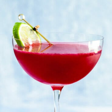 Rum and cranberry juice