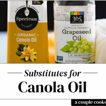 Canola oil substitute