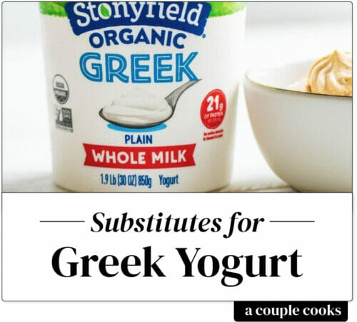 Substitutes for Greek yogurt