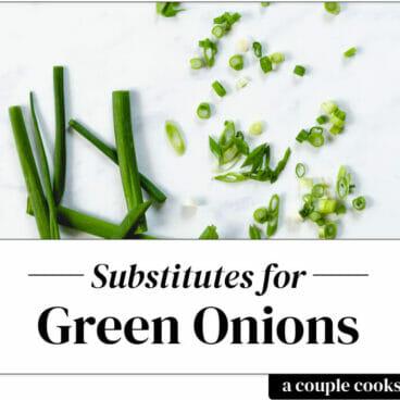 Green onion substitute   scallion sustitute