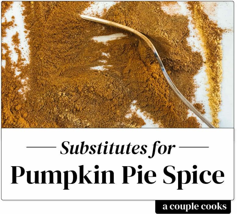 Pumpkin Pie Spice Substitute