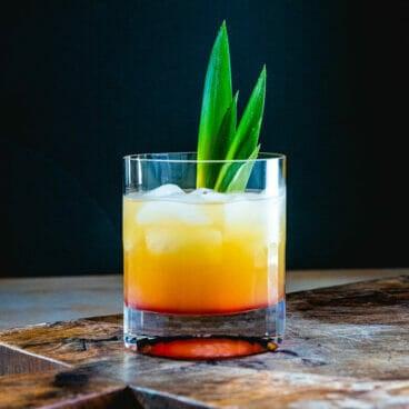Pineapple vodka cocktail