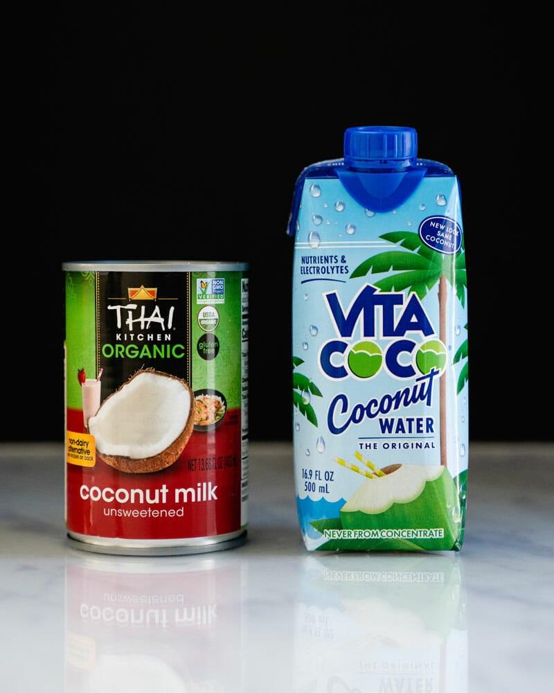 Coconut milk vs coconut water