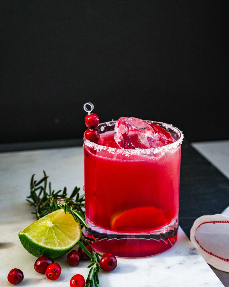 How to make a cranberry margarita