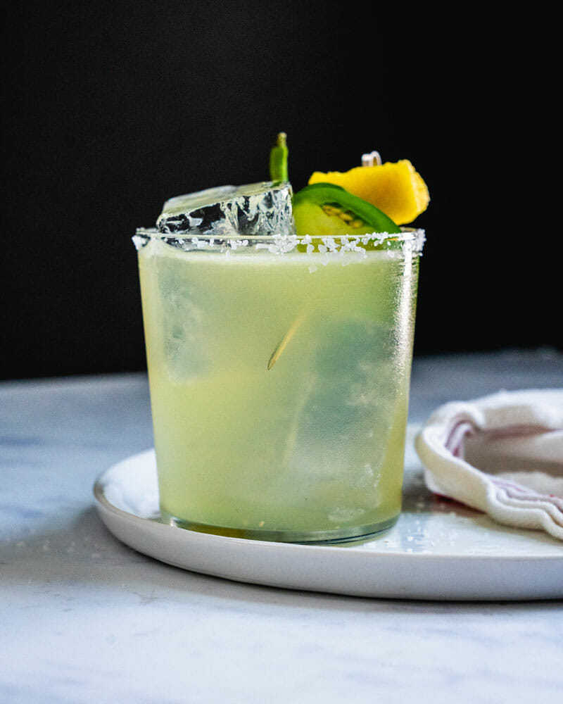 Pineapple jalapeno margarita