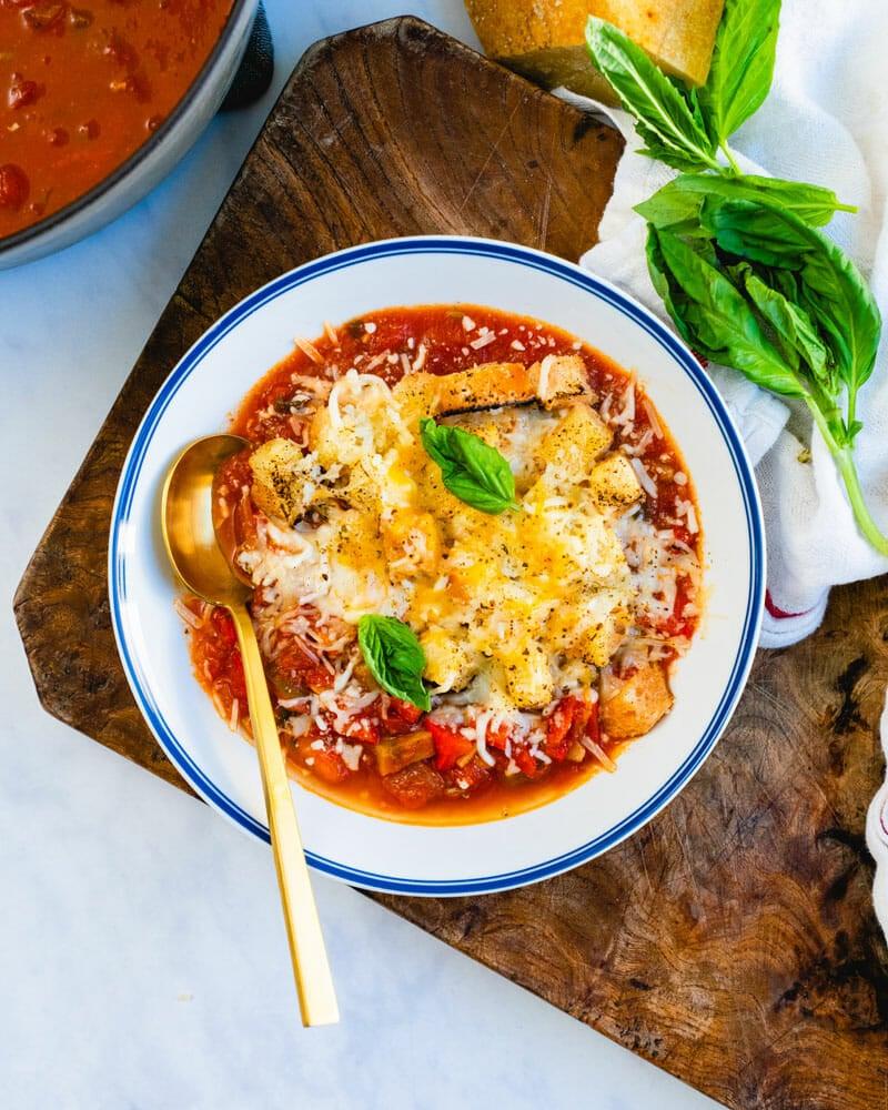 Pizza soup recipe
