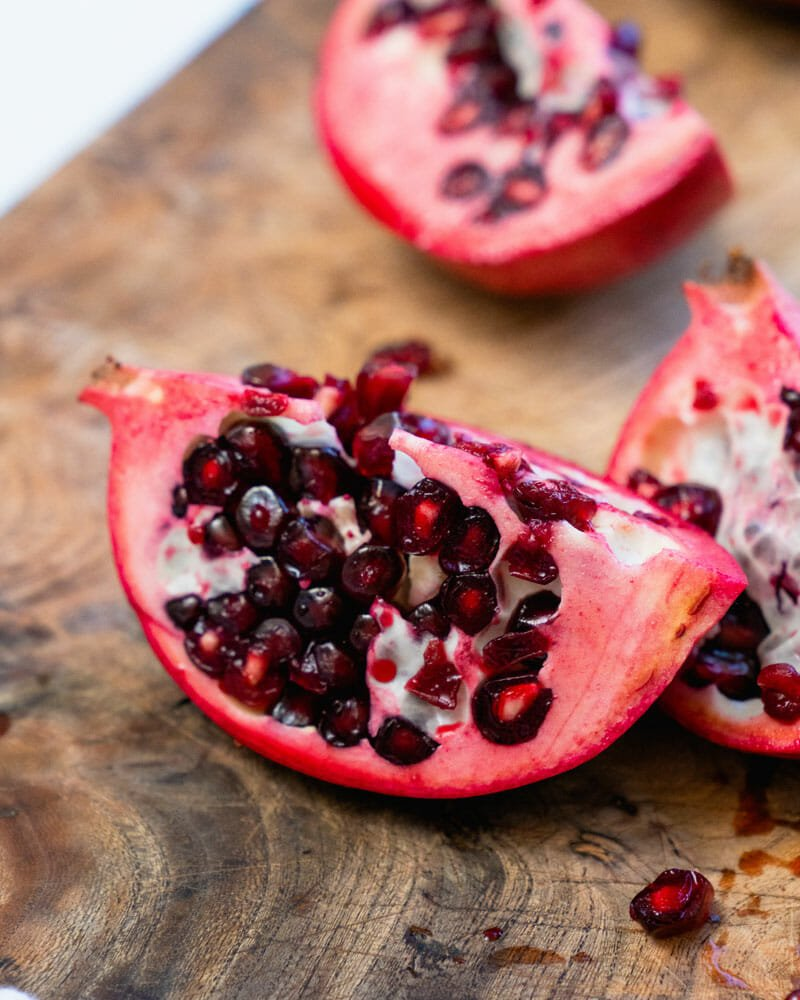 How to cut open a pomegranate