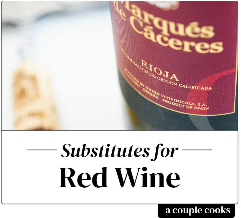 Red wine substitute