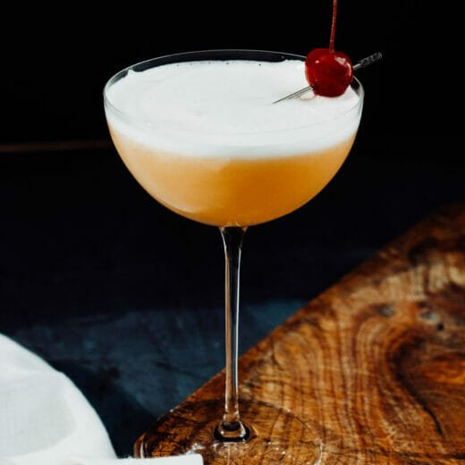 Whiskey sour egg white