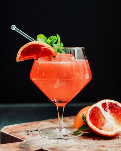 Blood orange cocktail