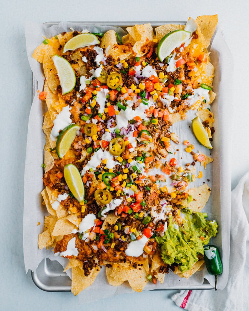 Nachos toppings