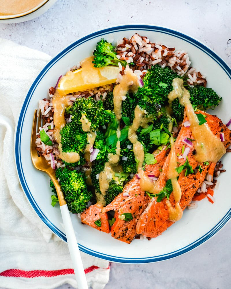 Salmon bowl recipe