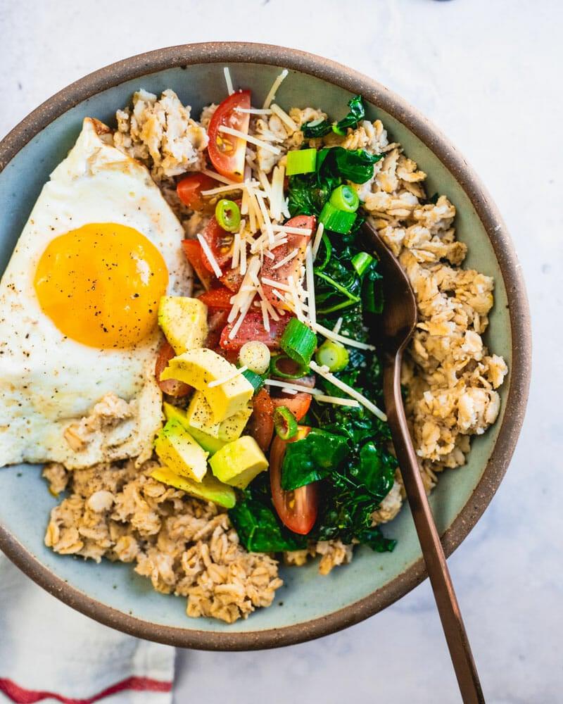 Savory oatmeal