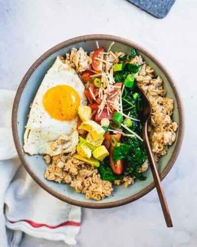 Savory oatmeal recipes