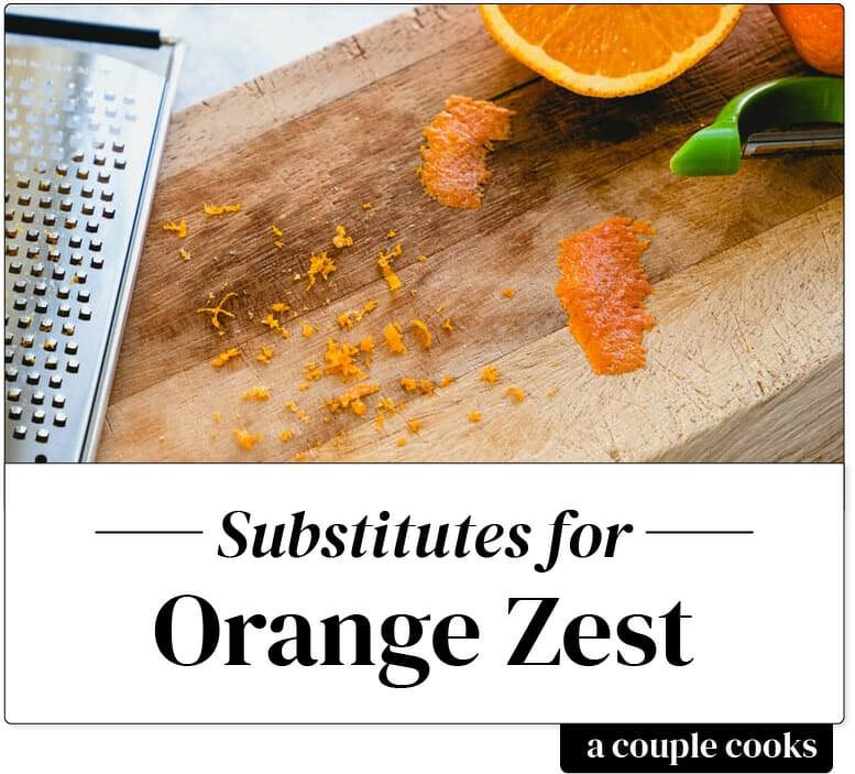 Orange zest substitute