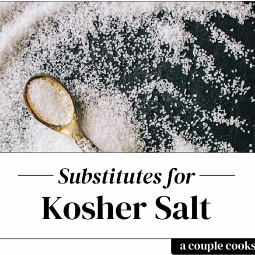 Kosher salt substitute