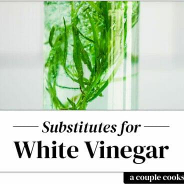 White vinegar substitute