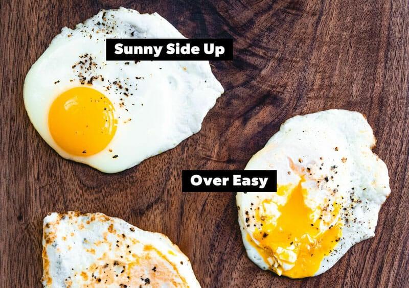 Sunny side up vs over easy