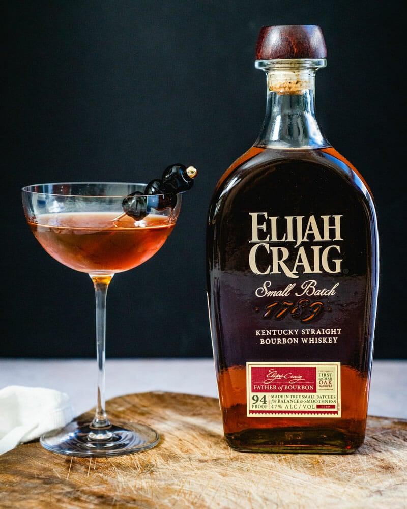 Bourbon in a Manhattan