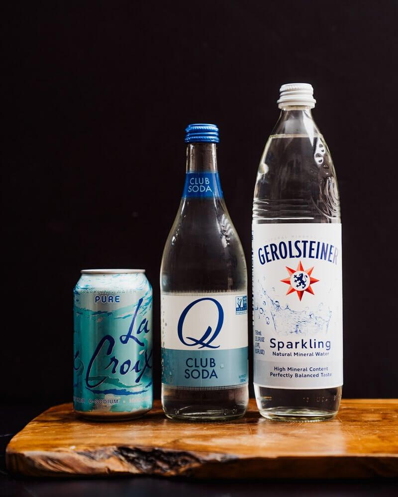Club soda cocktails, club soda drinks