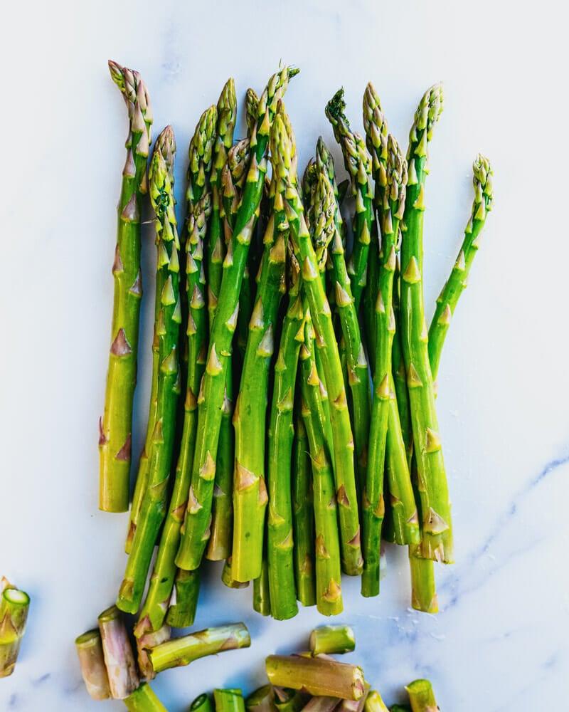 How to cut asparagus