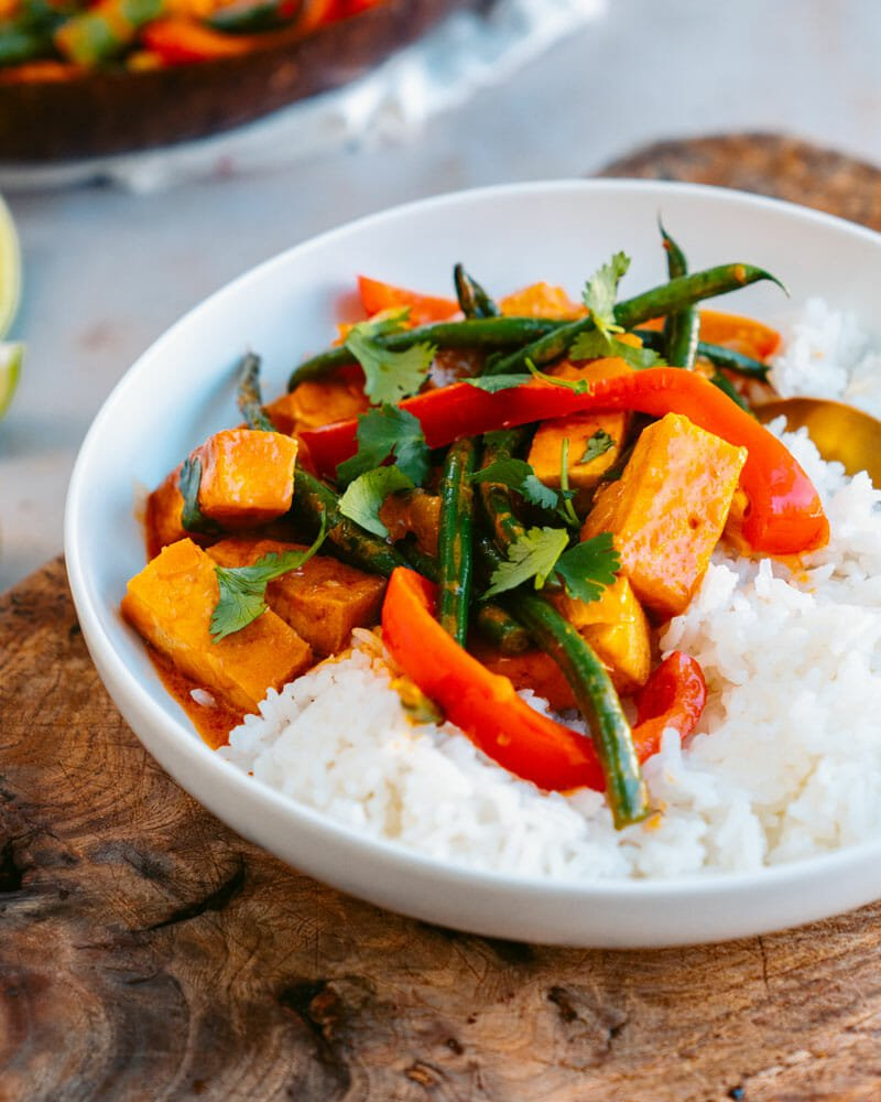 Tofu red curry
