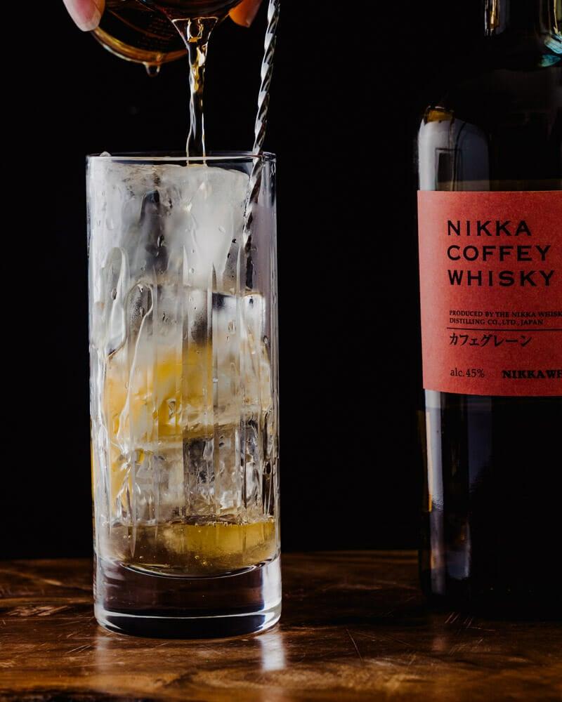 Japanese highball cocktail