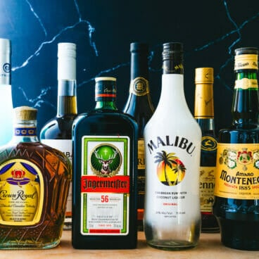 Types of alcohol and liquor names