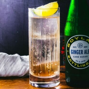 Tequila and ginger ale