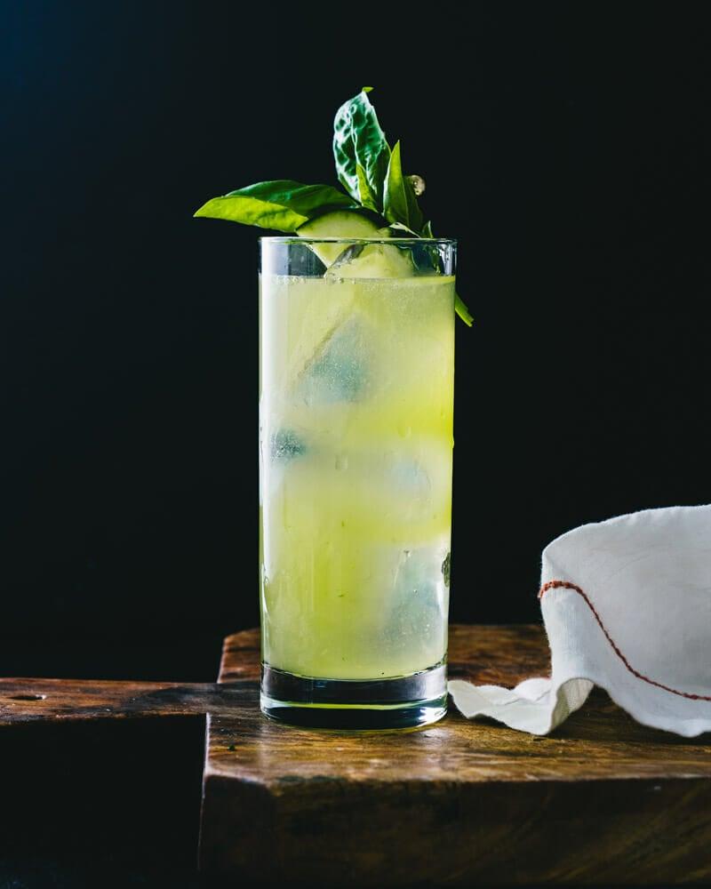 Cucumber basil cocktail