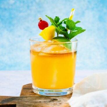 Dark rum cocktails