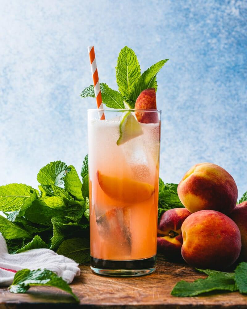 Peach cocktails