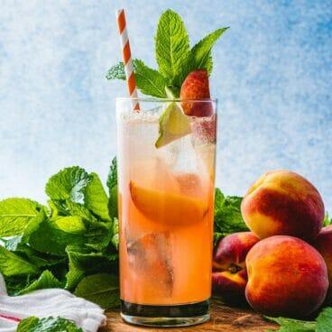 Peach mojito