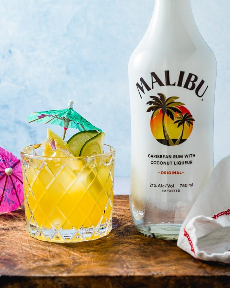 Malibu and Pineapple juice