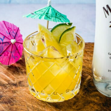 Malibu and pineapple