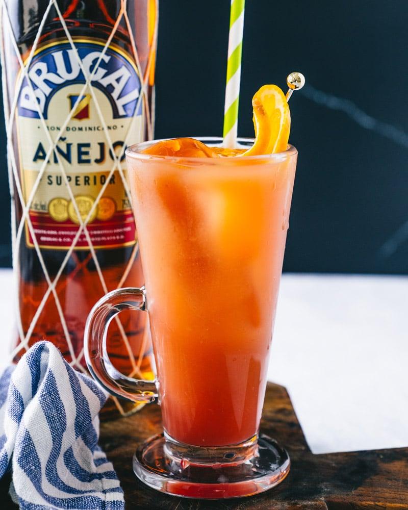 Rum and orange juice