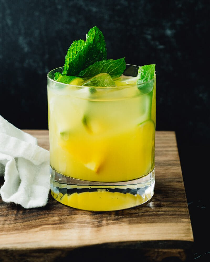 Tequila and pineapple juice