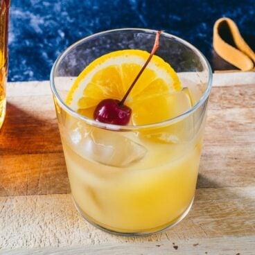 Whiskey and orange juice